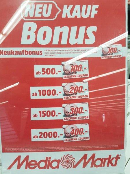Media Märkte Verbund Heilbronn inkl. Fellbach und Bad Cannstatt usw. 100€ Gutschein je 500,-€ Einkauf auf alle Warengruppen bis 22.10.2016