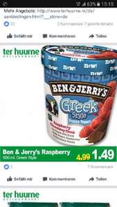 (Lokal Holland/Ter Huurne) Ben & Jerry Greek Style 500ml