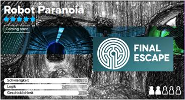 LOCAL Berlin - Final Escape Exit Game Robot Paranoia mit 20% Rabatt