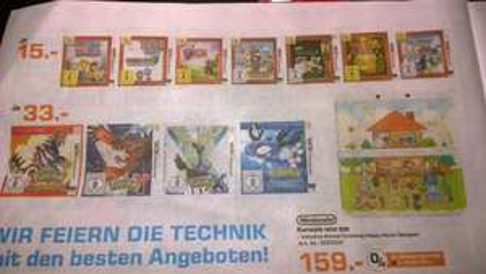 [Lokal] Saturn Rostock - 3DS Selects Titel wie Zelda, Lego City