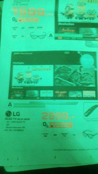 [Saturn Hilden] Aktuelle Werbung - z.B. LG 4K OLED 65EF9509 zum Bestpreis für 2.999,00 €