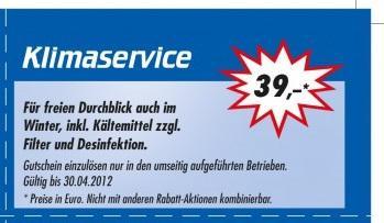Auto Klimaservice inkl Kältemittel in Dortmund, Hagen, Schwerte, Neuss, Düsseldorf-Wersten