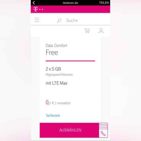 Gratis-Tarif der Telekom: Zwei Monate kostenlos mit LTE surfen