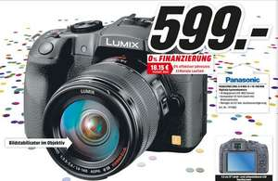 [Meida Markt Mainz, Alzey, Bischofsheim] Panasonic Lumix DMC-G6 + 14-140 mm KIt für 599,00 €