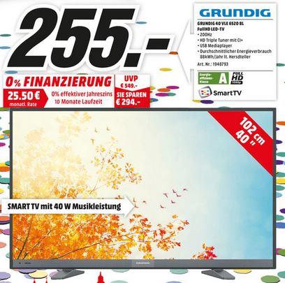 [MM Mainz] Grundig 40 VLE 6520 BL für 255,00 €