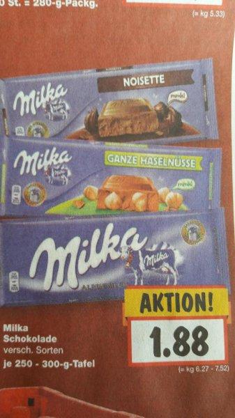[Kaufland] Milka 3×300g 0,516€/100g