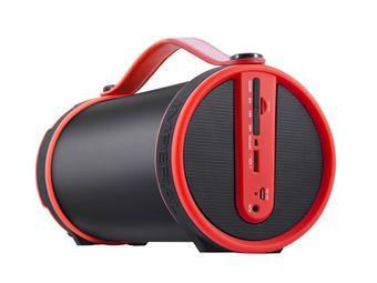 Imperial BEATSMAN Mobiler Bluetooth Lautsprecher mit UKW Radio in rot