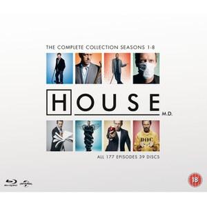 """(Zavvi) Dr. House - Die komplette Kollektion Blu-ray mit dt. Tonspur zum mydealz """"Bestpreis"""" :-)  47,89€"""