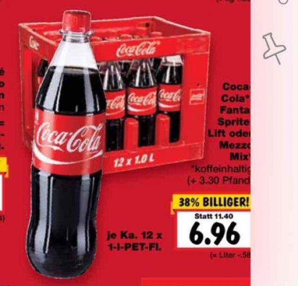 12x 1 Liter Coca Cola Kiste  evtl Lokal 92637 Weiden (Kaufland)