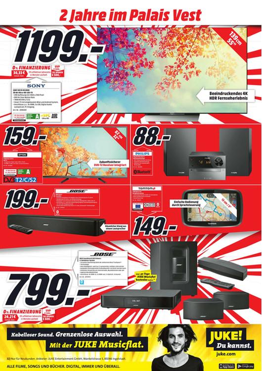 """[Lokal Recklinghausen] """"Geburtstags""""-Angebote bei Mediamarkt - z.B. Bose Soundtouch 220 für 799€ (Idealo 1149€)"""