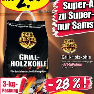 3kg Holzkohle für 1,79€ beim Lidl SuperSamstag
