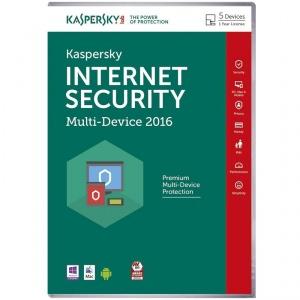 Kaspersky Internet Security 2016 (5 Geräte für 1 Jahr) für 17,52€bei mymemory