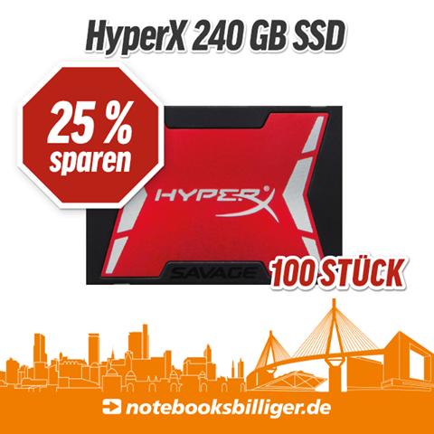 [Lokal] NBB Store Hamburg - HyperX Savage 240 GB SSD (-24% zu idealo)