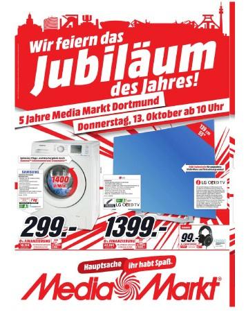 Media Markt Dortmund: Aktuelle Werbung LG OLED TV 55EG9109 für nur 1399,- statt 1809,- EUR