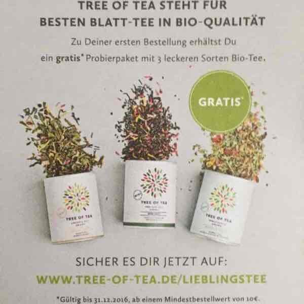 Tree of Tea Probierpaket gratis 10€ MBW