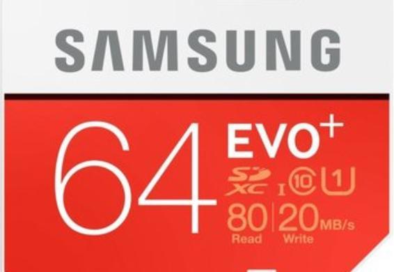 Samsung Speicherkarte SDXC 64GB EVO Plus für 9,99€ incl. Versand
