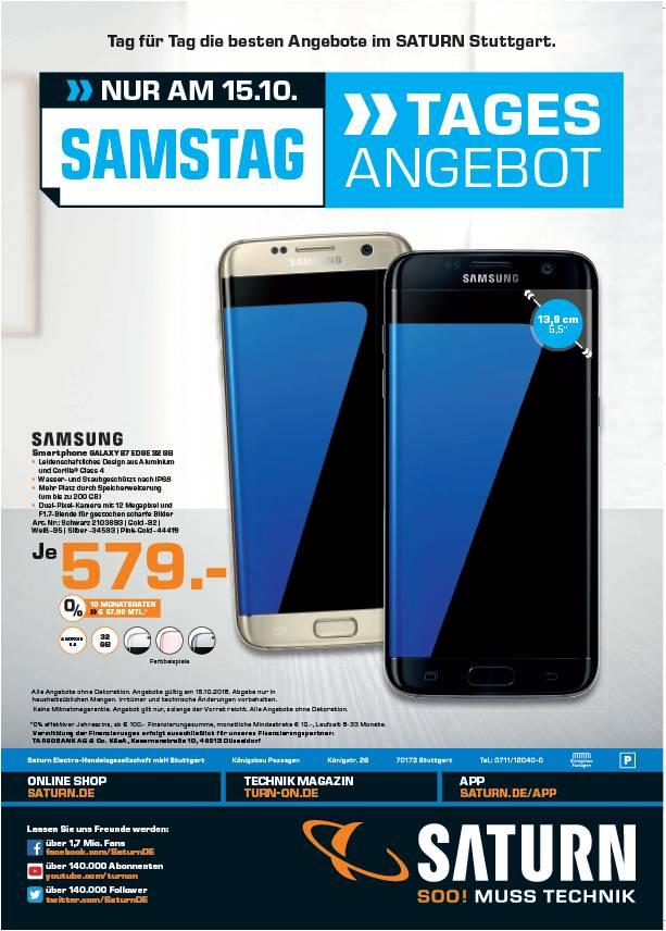 Samsung Galaxy S7 edge Tagesaktion bei Saturn