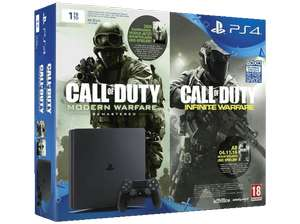 [Saturn Weekend Deals] SONY PlayStation 4 1TB Slim + Code für Call Of Duty: Modern Warfare und Call Of Duty: Infinite Warfare für 299,-€