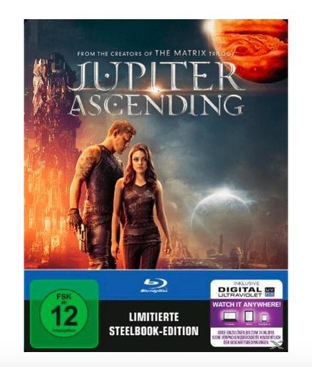 Jupiter Ascending (Steelbook Edition) - (Blu-ray) oder Storm Hunters (Steelbook Edition) - (Blu-ray) für je 5€ inkl. Versand bei Saturn.de