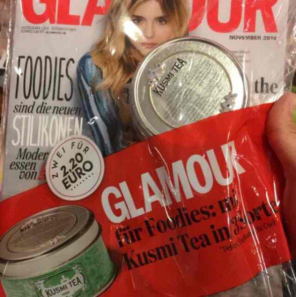 Mit der neuen Glamour Ausgabe gibt es den Kusmi Tea für 2,20€