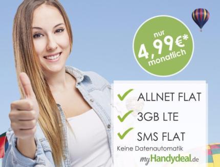 Berlin: Allnet Flat o2 Netz+ 3GB LTE (keine Datenautomatik)+ SMS Flat für 8,99€ mtl. (Monat 1-3: 4,99 Euro)