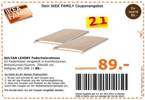 Ikea SULTAN LAXEBY Federholzrahmen 2 für 1 89 € statt 178€ Nur am 28.04 (Berlin)
