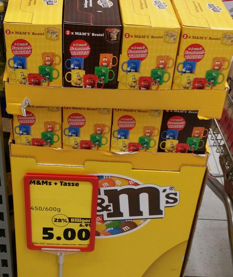 (Penny Hamburg) M&Mx27s Sammeltasse + 2x 300g Peanuts für 5 Euro