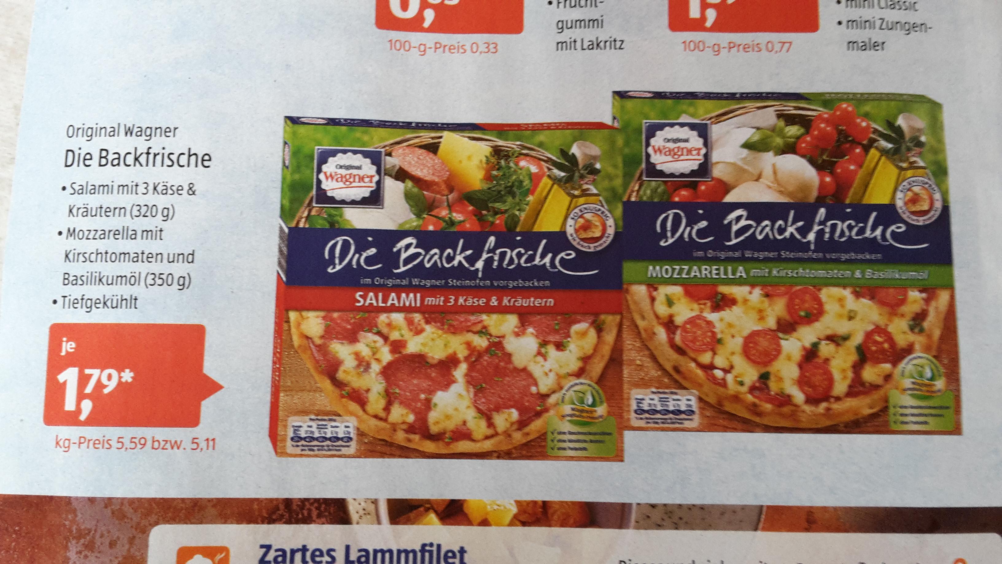 """[ALDI Süd] Wagner """"Die Backfrische"""" Pizza für 1,79€ ab Samstag, den 29.10."""