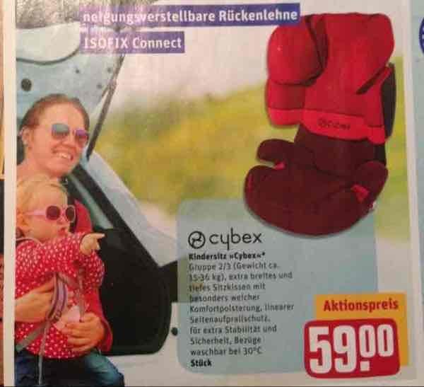 Cybex Kindersitz mit Isofix - Gruppe 2/3 15-36kg für 59€ im Toom Markt in Dorsten, Altena und Herne