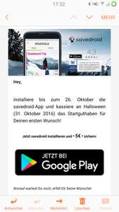 [Android] 5€ gratis in der Savedroid App