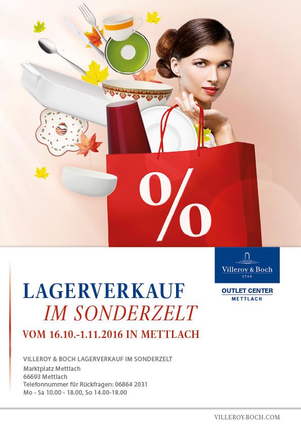 Villeroy & Boch Lagerverkauf im Sonderzelt in Mettlach (Saarland)