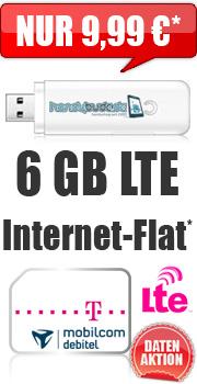 Mobilcom Debitel: 6GB Telekom LTE 9,99€