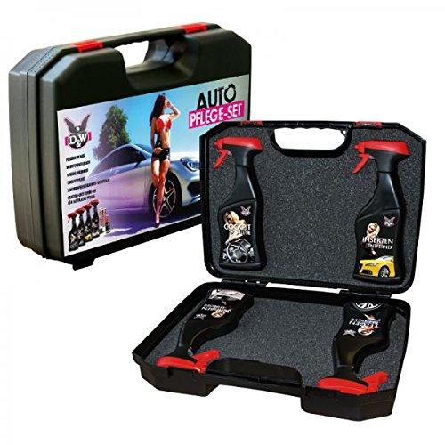 D&W 41056 Auto-Reinigungs-Set im Koffer, 4-teilig bei Amazon.de für 28,30€