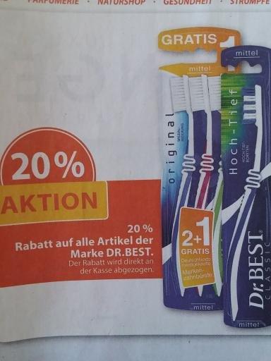 Müller, bundesweit, 20% auf Dr. Best Artikel
