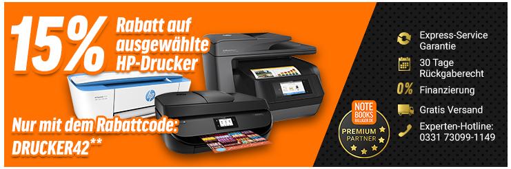 NBB - 15% Rabatt + Cashback auf ausgewählte HP Laser und Tintenstrahl Drucker, Kostenloser Versand!