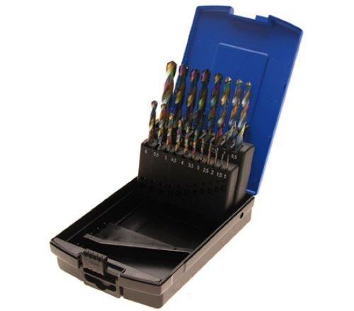 [Amazon Prime] Cobalt beschichtete HSS Bohrersatz 1-10mm 0,5mm Schritte (19 Bohrer + Kasette)