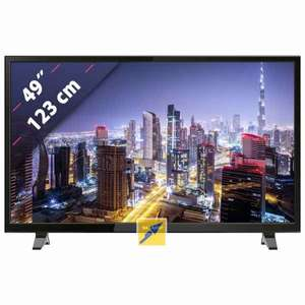 Sharp Aquos LC-49CFE4042E (49 FHD Edge-lit, 100Hz [interpol.], 300cd/?m², Triple Tuner, 3x HDMI, 2x USB, LAN, CI+, VESA, EEK A) für 281,10€ [Masterpass] [Technikdirekt]