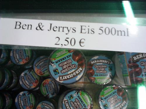[Lokal M'Gladbach] Ben & Jerrys Ice Cream @Kaas 100ml ->1 Euro u. 500ml-> 2,50 Euro