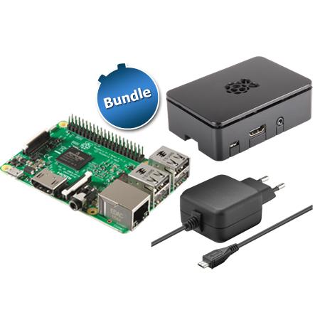 Raspberry pi3 mit Gehäuse und Netzteil
