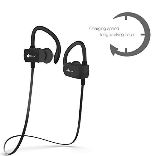 In-Ear Bluetooth Sport Kopfhörer mit Mikrofon und Rauschunterdrückung (Bluetooth 4.1) ab 14,99€