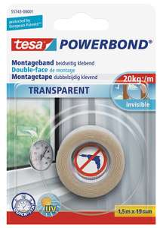 [Amazon Blitzdeal] Tesa doppelseitiges Montageband Powerbond, 1,5m  für 5,65 €, PVG 8,77 €