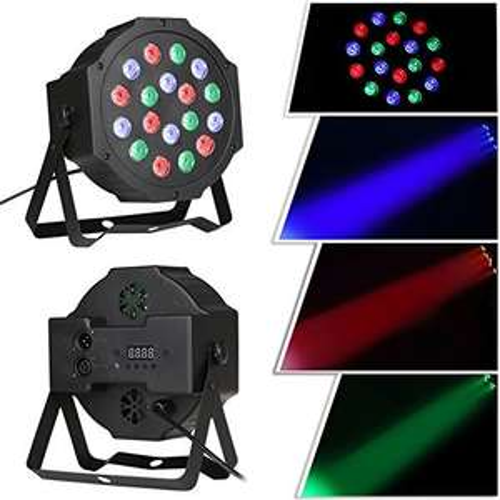 18 LED Disco Beleuchtung (Strahler) - SEHR HELL - für Partykeller - (Aliexpress ab 20€)