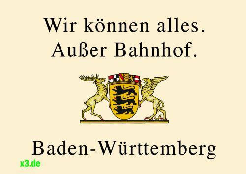 """Aufkleber für Baden-Württemberger  """"Hochdeutsch"""" und """"Nett hier""""..."""