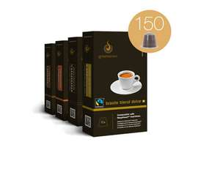 GOURMESSO Probierbox, Kaffeekapseln, für Nespresso® Maschinen, 150 Kaffeekapseln @allyouneed 29,95€