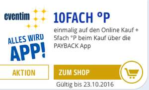 [Eventim][Payback] 7,5% Ersparnis auf alle Eventim Tickets