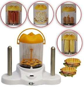 Hot Dog Steamer Eierkocher Popkorn Maker Dampgarer 380W 4in1 @Ebay