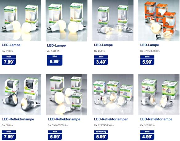 Aldi Nord: MeLiTec- und lifelight-LED-Lampen mit Ra >90, >95 & >97 ab 3,49 €