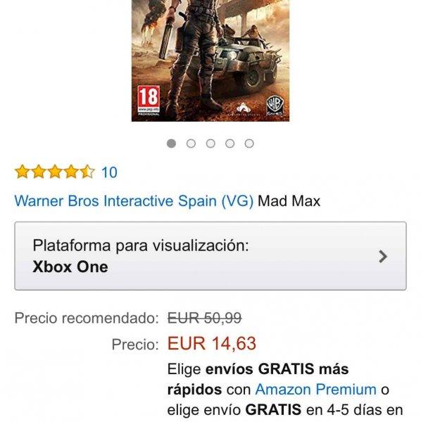 [amazon.es] Xbox One MAD MAX