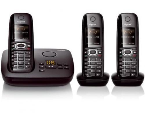 SIEMENS GIGASET C595 Trio – 3 x Schnurloses Festnetztelefon mit BASIS + Anrufbeantworter 99,99 Versandkostenfrei @meinpaket.de