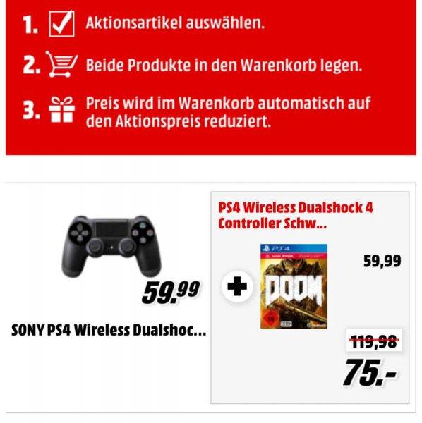 Doom ps4 + Controller für 75€